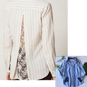 Anthropologie Isabella Sinclair striped button up